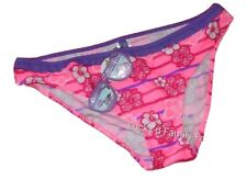 NEW Ocean Pacific Pink White Purple Floral Stripe bikini bottoms briefs size 18