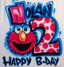 Airbrushed Custom Elmo Seasame Street Muppets T-Shirt Onesie All Sizes