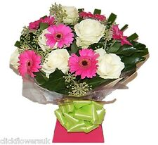 Fresh Flowers Delivered UK Rose & Gerbera Selection Mixed Bouquet - Save £5.00