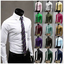 Camicia Uomo SLim-Fit 17 Color Men Shirt 7784 Multicolor Multisize