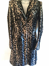 KAREN MILLEN Ladies Size 10-14 UK leopard Animal Print Pony Faux Fur Winter Coat