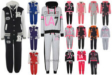 Girls Kids Children New Cotton Hooded Top Baseball Jacket Tracksuit Age 7-13 Y