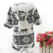 Warm Winter Hoodie Jumpsuit Coat Clothes Costume For Pet Dog Puppy Fashion