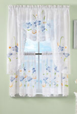 Collections Etc Painted Floral Lace Cafe Window Curtains