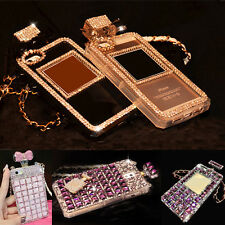 Chain Bottle Fashion Style Bling Diamond Gem Case Cover Skin for iPhone 6/6Plus