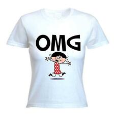 OMG WOMEN'S T-SHIRT - Oh My God Text Language Facebook Twitter - Sizes S-XL