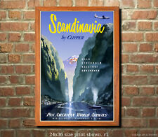 Pan Am Scandinavia 2 Vintage Airline Travel Poster [6 sizes, matte+glossy avail]