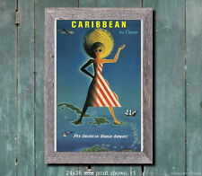 Pan Am Caribbean #1 Vintage Airline Travel Poster [6 sizes, matte+glossy avail]