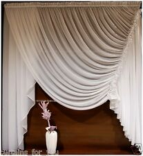 READY MADE VOILE CURTAINS SHORT LONG VARIOUS SIZES LUXURY FINISHED AMAZING FOR U