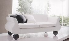 Three-seat sofa handcrafted in Italy. 3 seater. Coating in eco-leather or fabric