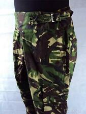 NEW British Army DPM Camo Windproof Trousers, Cross Over Belt & Buckle SAS SBS