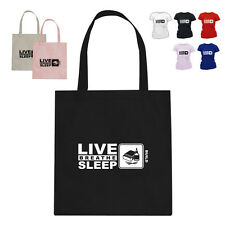 Match Building Kit Gift Cotton Tote Bag Eat Live Breathe Sleep Build2