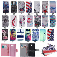 Fashion Lovely Flip Printed PU Leather Holder Wallet Case TPU Cover For Phones