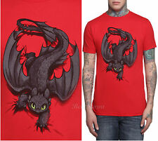 How To Train Your Dragon 2 TOOTHLESS Night Fury X-ing Mens Slim Tee T-Shirt S-2X