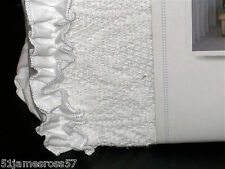 Simply Shabby Chic - PIECED MESH White Lace FULL/Queen DUVET COVER & Shams