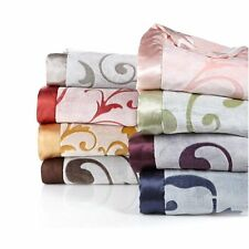 Highgate Manor Velvety Plush Blanket with Satin Trim - PICK A COLOR  - Brand New