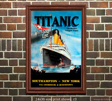 Titanic White Star Line #1 - Vintage Sailing Notice/Poster