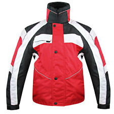 Snow Master Men's Stormer Insul Tex Red/Black/White Snowmobile Jacket windproof