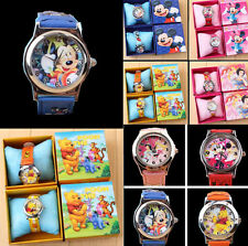 Disney Mickey Minnie Princess Analog Quartz Kid's Wrist Watch Gift Multi-Color