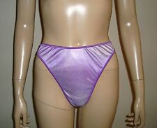 New, Satin High Rise Lace Splash Solid color Panty Thong