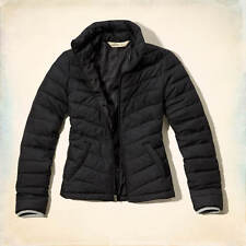 NWT Hollister Women's Fountain ValleyPuffer Black Coat Jacket S M L NEW