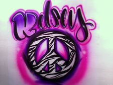 Custom Airbrushed Peace Sign Tshirt, Hoodie or Pillowcase
