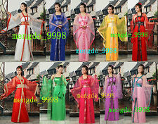 11Color Traditional Chinese Clothing HanFu TangSuit Princess Dress Fairy Costume
