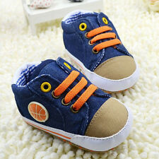 Toddler Baby Boys Girls Basketball logo Crib Shoes Size 0-18 Months-A043