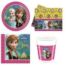 Childrens Girls Frozen Disney Birthday Party Tableware Plates Cups Set 8 or 16