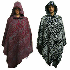 LADIES WOMENS NEW JACKET BLANKET CAPE COAT HOODED PONCHO ONE SIZE AZTEC NAVAJO