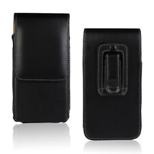 Black Vertical Flip Belt Clip Holster Leather Pouch Case Cover for Various Phone