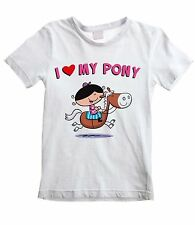 I LOVE MY PONY KIDS UNISEX T-SHIRT - Horse Riding Jumping Childrens - All Sizes