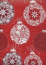 Vinyl Tablecloth Flannel Back Holiday Christmas Decorated Ornaments CHOOSE SIZE