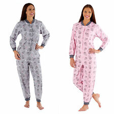 Womens Onesie New Cosy Soft Owl Ladies All In One Sleepsuit Loungewear Gift