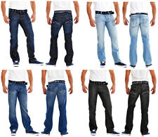 "Mens Jeans Straight Leg Stone Edge Brand Classic Denim Waist 30"" to 42"" S, R, L"