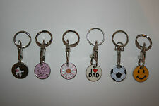 2X £1 COIN SHOPPING TROLLEY TOKENS KEYRING LOCKER TOKENS MANY STYLES MIX & MATCH