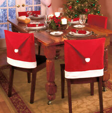 Santa Red Hat Chair Covers Christmas Decorations Dinner Chair Xmas Cap Sets SHUS