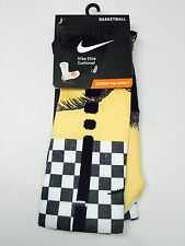 Custom Nike Elite Dri-Fit Crew Basketball Socks Palm Tree Retro 12 XII Taxi Gold