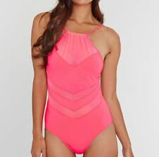 SEAFOLLY GODDESS HIGH NECK MAILLOT SWIMSUIT RRP £88 BNWT