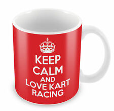 KEEP CALM And Love Kart Racing Mug - Coffee Cup Gift Idea present sports