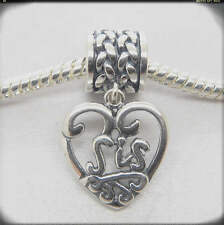 Love SIS/sister Dangle heart Sterling silver Family For Christmas Holiday Gifts