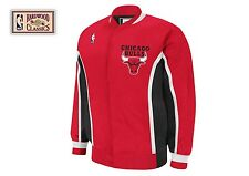 Mitchell and Ness Chicago Bulls Authentic Warm Up Jacket Away Red Michael Jordan