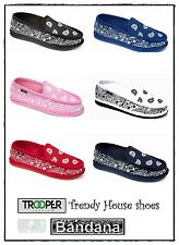 Trooper America Bandana Style House Shoes Gangster Paisley Hip Hop Indoor Shoes