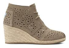 TOMS Desert Wedge Taupe Moroccan Cutout New in Box Authentic Free Shipping in US