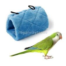 Parrot Bird Hammock Hanging Cave Cage Plush Snuggle Hut Bed Bunk Toy S M L Blue