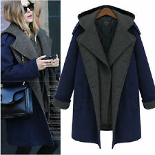 2014 winter new fashion womens woolen overcoat hooded Medium style coat jacket