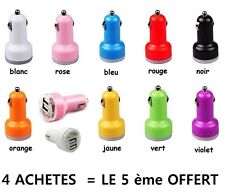 chargeur voiture DOUBLE USB allume cigare IPHONE IPAD SAMSUNG NOKIA SONY LG ...