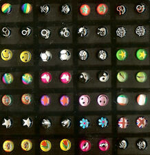 1 Pair Earstuds Logo Various Motive Selection See Selection @ New 6 Mm Nbr. 1