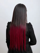 Cheap Corlorful Synthetic Straight Hair Extension Clip In 65cm Quite Hot selling