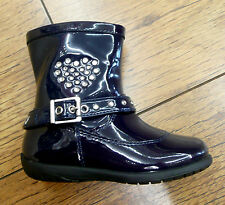 Lelli Kelly Caitlyn Navy Patent Studded Heart Toddler Boot SALE!!! FREE UK P&P